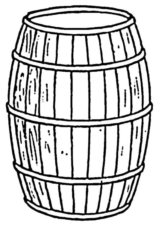 Dibujo Para Colorear Barril Img 19128 Images