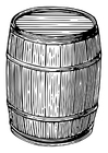 Dibujo para colorear barril