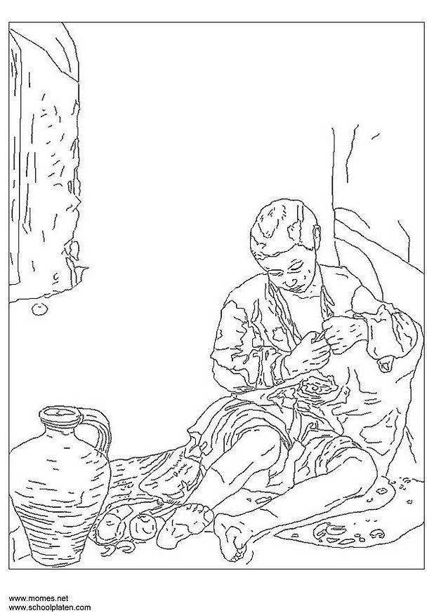 Dibujo para colorear Bartolomé Murillo   Img 3177