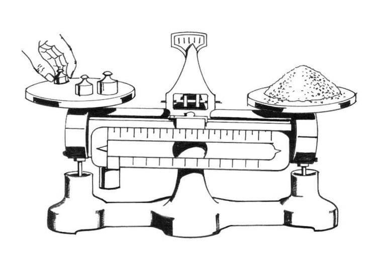 Dibujo para colorear bscula  Img 18891