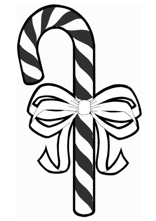 Dibujo para colorear bastoncito de azúcar - Img 20383