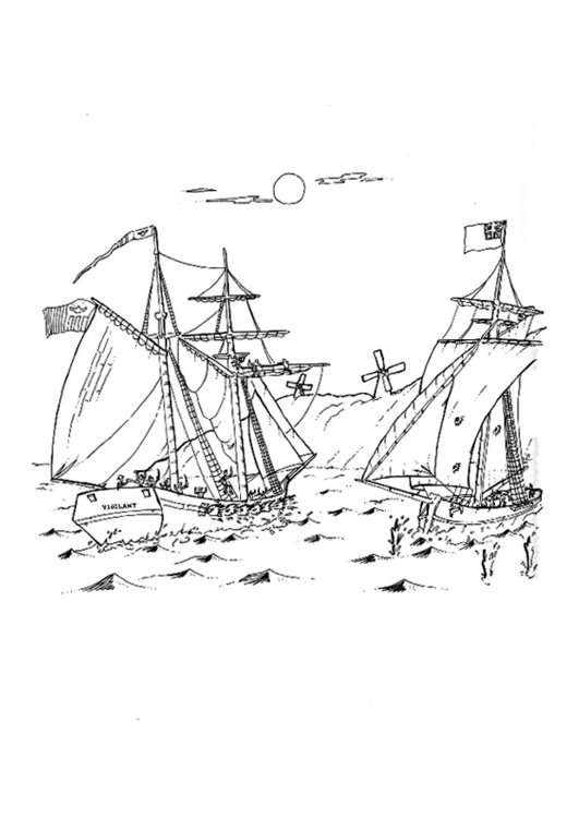 Dibujo para colorear Batalla naval - Img 9279