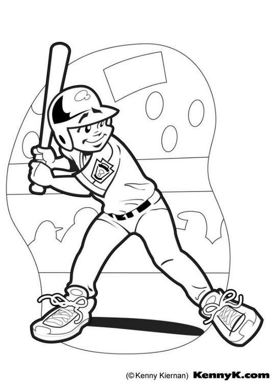 Dibujo para colorear Bateador de beisbol - Img 12048