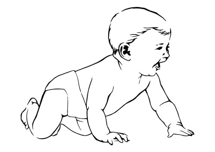 Dibujo para colorear Bebé - Img 11897