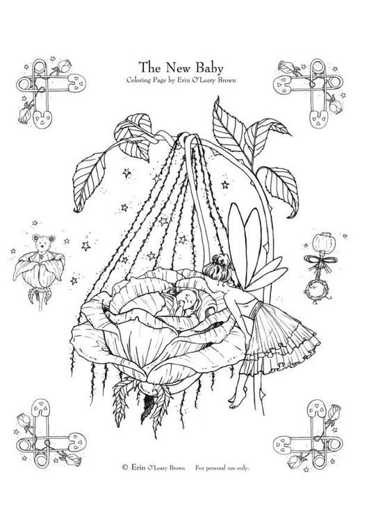 Dibujo para colorear Beb  recin nacido  Img 10627