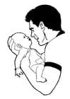 Dibujo para colorear Bebé