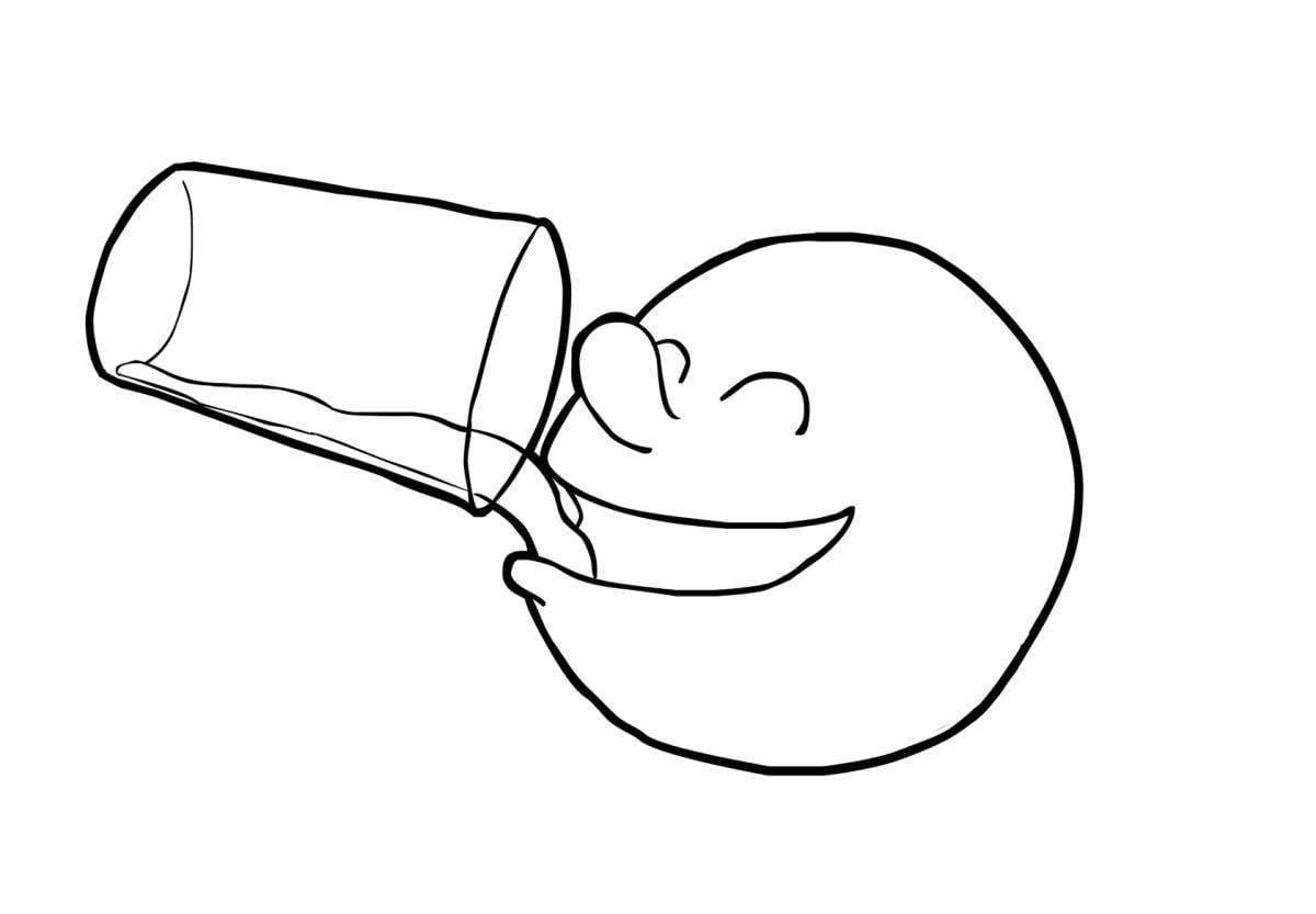 Dibujo para colorear Beber - Dibujos Para Imprimir Gratis