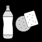 Dibujo para colorear Bebida y galleta