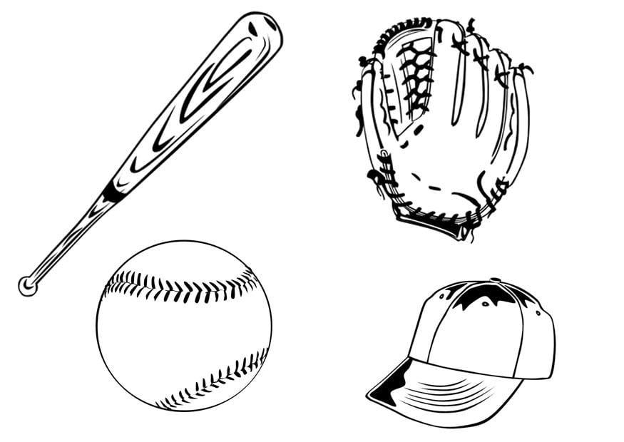 Dibujo para colorear Béisbol - Img 9998