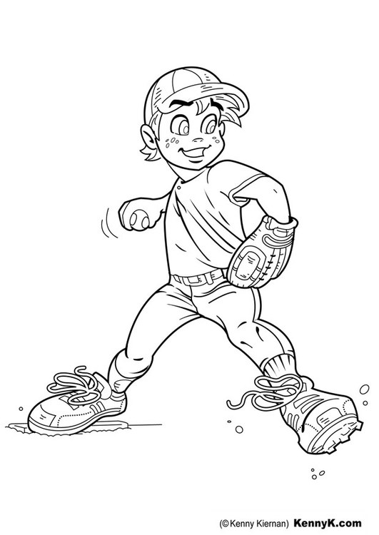 Dibujo para colorear béisbol - Img 20057