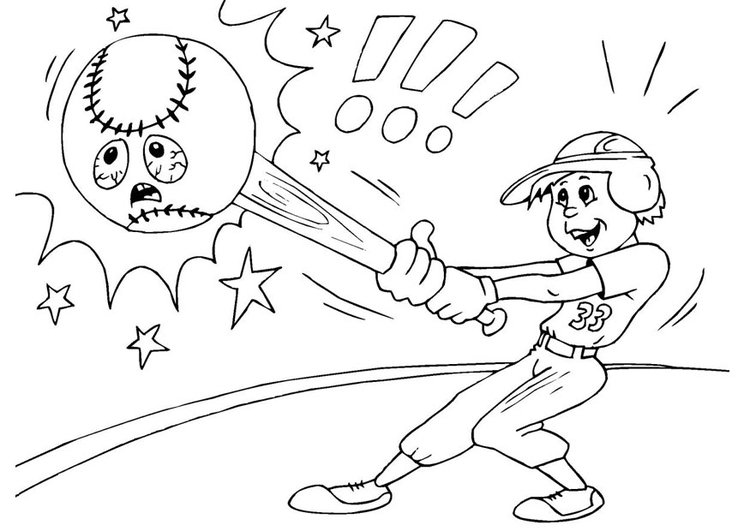 Dibujo para colorear béisbol - Img 25988