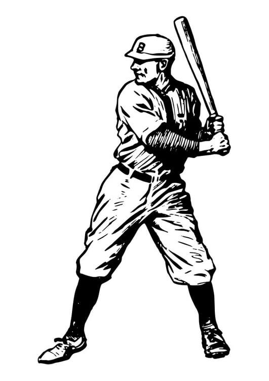 Dibujo para colorear béisbol - Img 29752