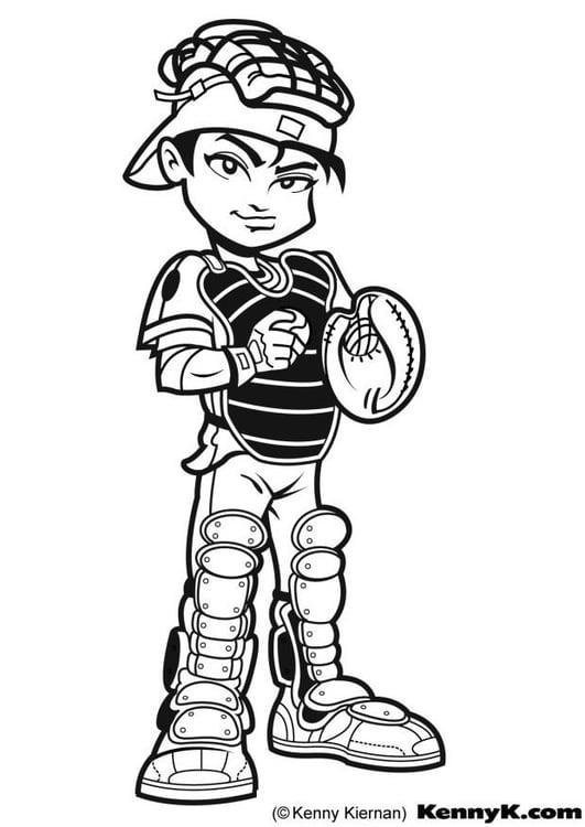 Dibujo para colorear Beisbol - Img 7016