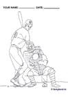 Dibujo para colorear Beisbol