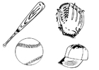 Dibujo para colorear Béisbol