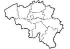Dibujo para colorear Bélgica - Provincias