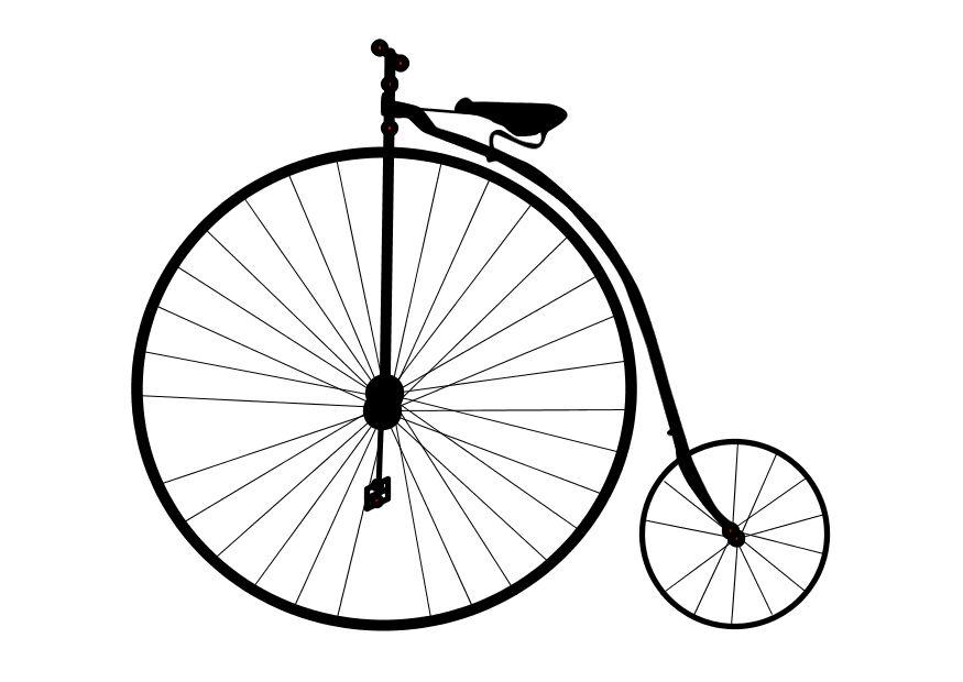 Dibujo para colorear Bicicleta antigua  Img 10100
