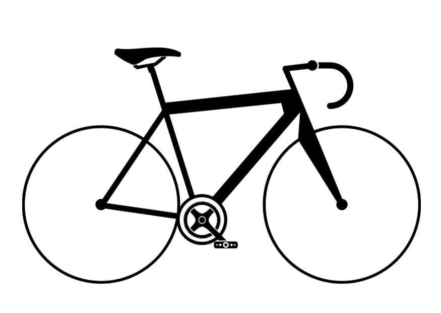 Dibujo para colorear bicicleta de carreras - Img 27506