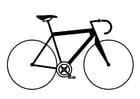 Dibujo para colorear bicicleta de carreras