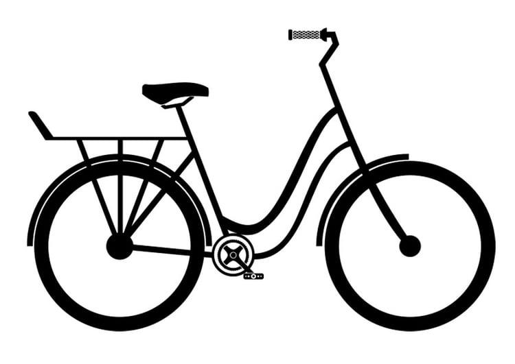 Dibujo Para Colorear Bicicleta De Ciudad Img 27508