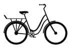 Dibujo para colorear bicicleta de ciudad