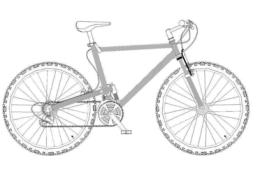 Kleurplaat Mountainbike Dibujo Para Colorear Bicicleta De Monta 241 A Dibujos Para