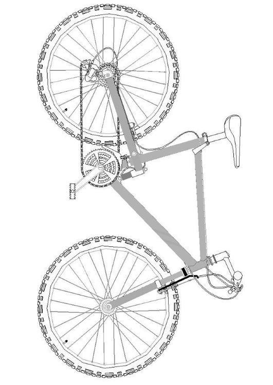 Dibujo para colorear Bicicleta de montaña - Img 7062