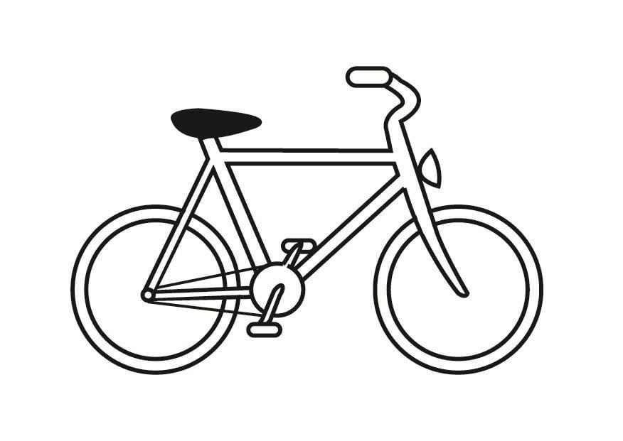 Dibujos De Cebollas Para Colorear: Dibujo Para Colorear Bicicleta