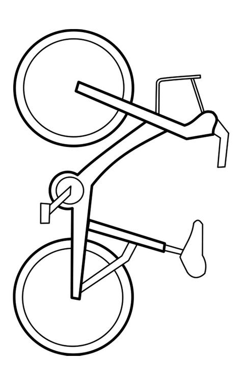 Coloring page bicycle - coloring picture bicycle.  Free coloring sheets to print and download.