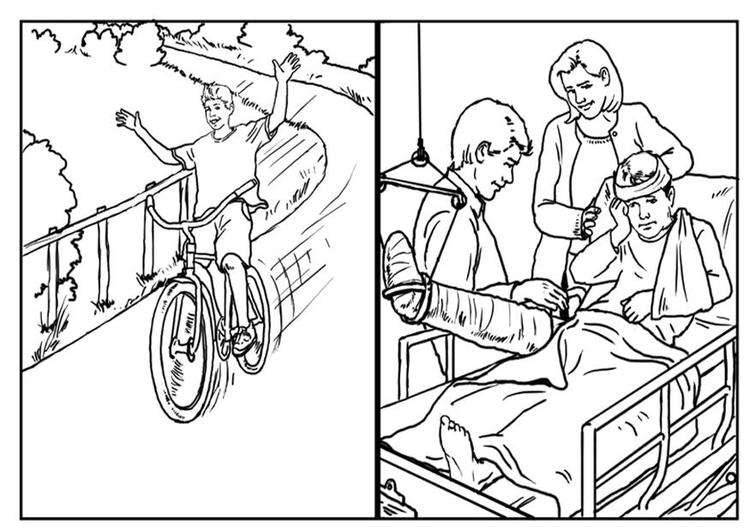 Dibujo para colorear Bicicletas - seguridad - Img 10423