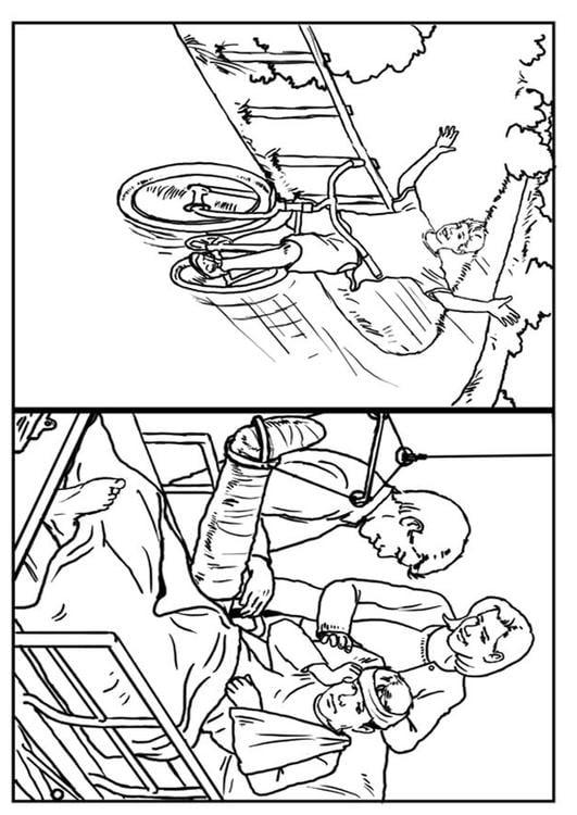 Dibujo para colorear Bicicletas - seguridad - Img 7637