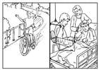 Dibujo para colorear Bicicletas - seguridad