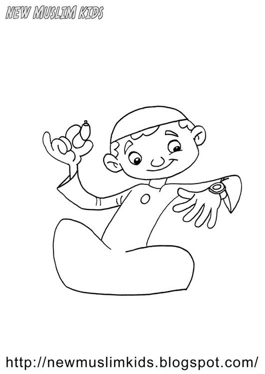 Dibujo para colorear bienvenido Ramadán - Img 22028