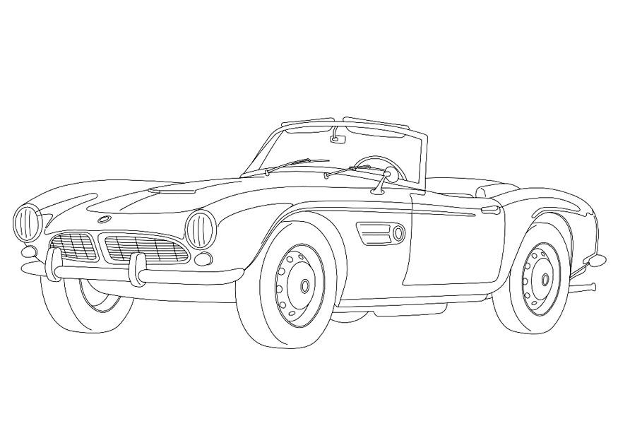 dibujo para colorear bmw 507 img 9957. Black Bedroom Furniture Sets. Home Design Ideas