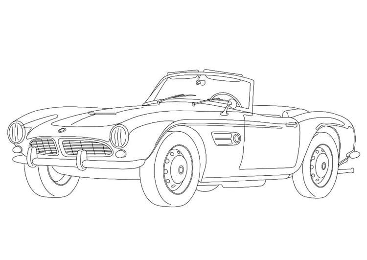 Dibujo para colorear BMW 507   Img 9957