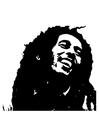 Dibujo para colorear Bob Marley