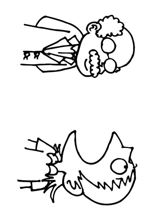 Dibujo para colorear Boca abierta - Img 12133