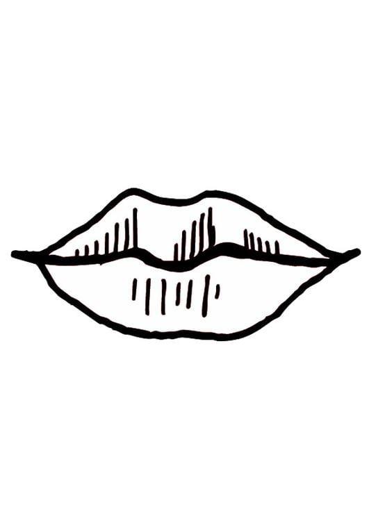Dibujo para colorear Boca  labios  Img 9524