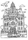 Dibujo para colorear Boda en el ayuntamiento