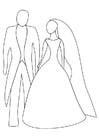 Dibujo para colorear boda