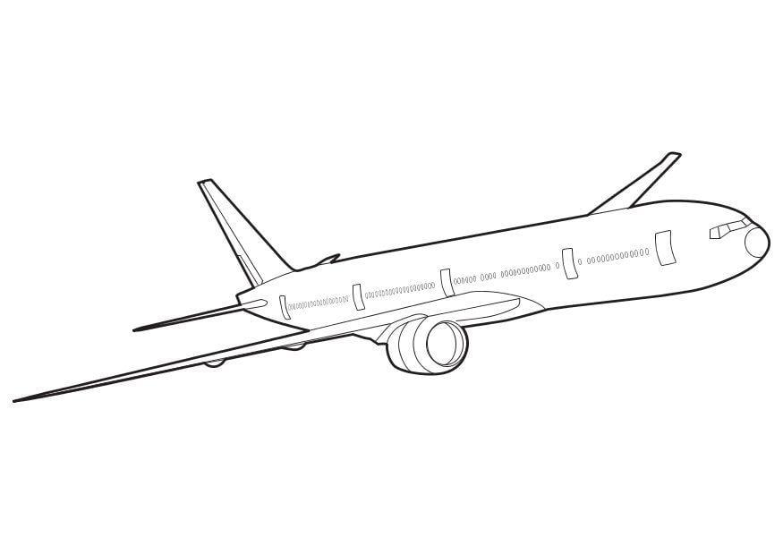 Dibujo Para Colorear Boeing_777  Img 10266