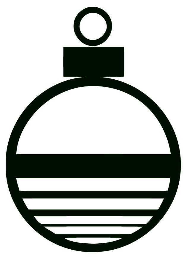 Dibujo para colorear bola de navidad img 16397 - Bolas de navidad grandes ...