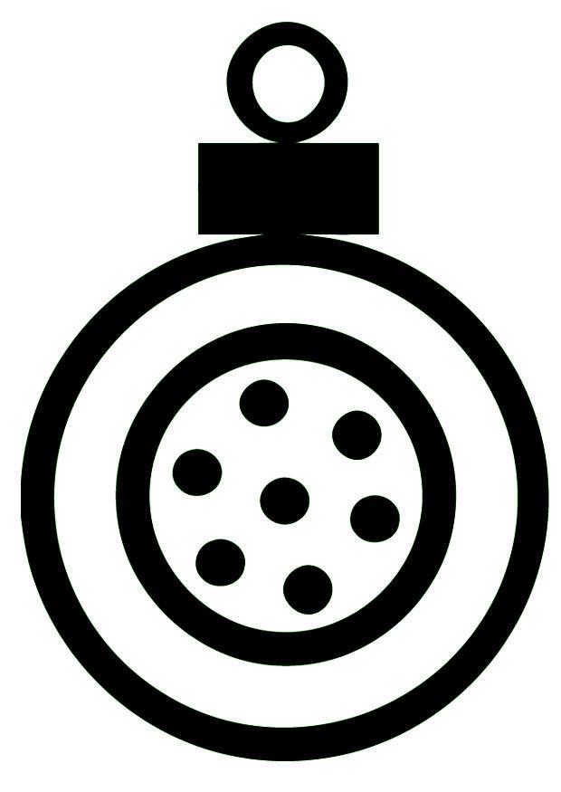 Dibujo para colorear Bola de navidad  Img 16399