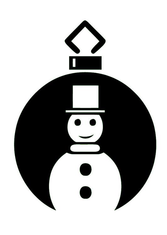 Dibujo para colorear bola de navidad img 16390 for Dibujo bola navidad