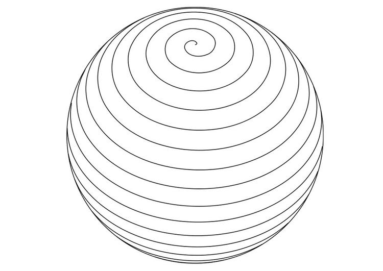 Dibujo para colorear bola - Img 27674