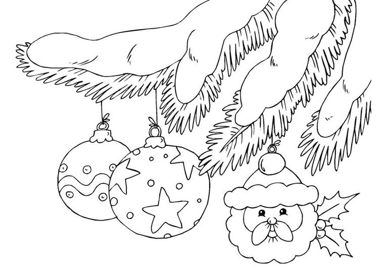 Bolas De Navidad Dibujos Para Colorear.Dibujo Para Colorear Bolas De Navidad Img 23375 Images