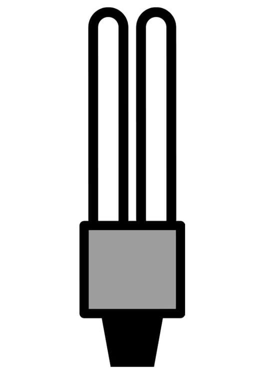 Dibujo Para Colorear Bombilla De Bajo Consumo Img 28336