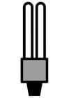 Dibujo para colorear bombilla de bajo consumo