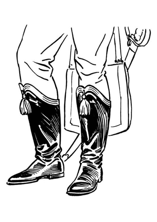 Dibujo Para Colorear Botas Img 18892