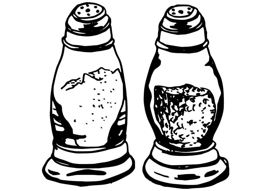 Salt And Pepper Coloring Page
